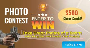 PHOTO CONTEST - Take Great Photos of a Room ceiling tiles | wall panel | other products - Enter To Win