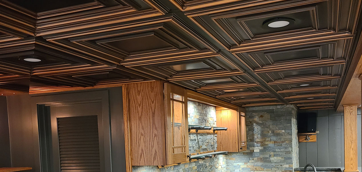 Schoolhouse faux tin ceiling tile 24 in x 24 in 222
