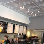 "Washington Square - Faux Tin Ceiling Tile - 24""x24"" - #DCT 05 - Installed at ""Starbucks"" - Russian Hill, San Francisco"