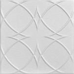 "Circles and Stars - Styrofoam Ceiling Tile - 20""x20"" - #R82"
