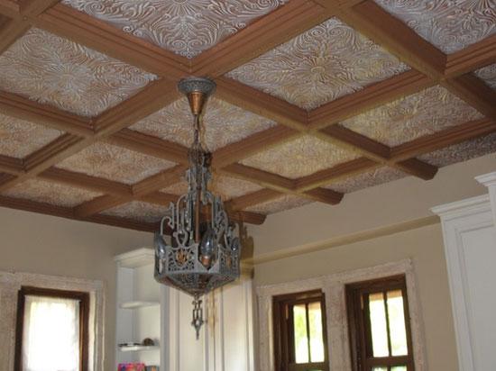 Spanish Silver – Styrofoam Ceiling Tile – 20″x20″ – #R139