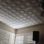 "Dogwood - Faux Tin Ceiling Tile - Glue up - 24""x24"" - #239"
