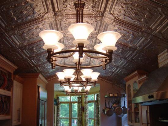 Elizabethan Shield – Tin Ceiling Tile – 24″x24′ – #2421