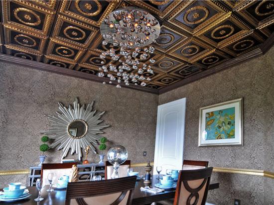Laurel Wreath – Faux Tin Ceiling Tile – #210