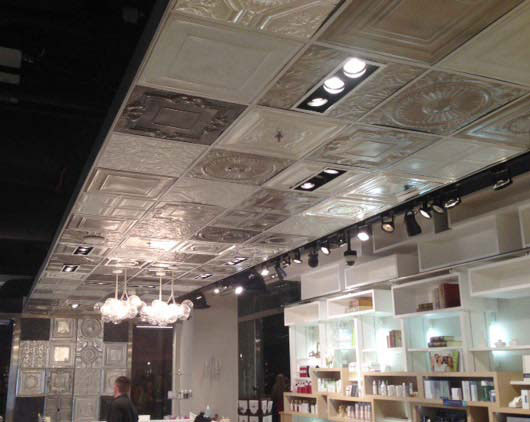 Large Snowflake – Aluminum Ceiling Tile – 24″x24″ – #2452