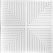 "Pyramid Illusion - Styrofoam Ceiling Tile - 20""x20"" - #R06"