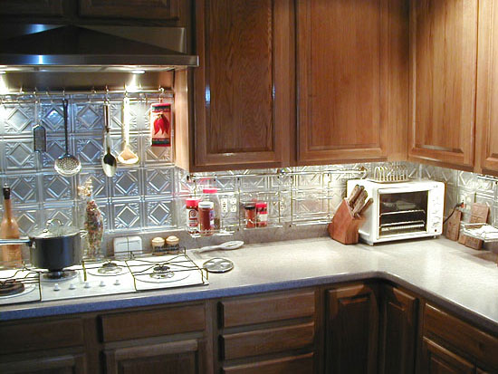 Diamondback Squares – Aluminum Backsplash Tile – #0603 - Clear Coated