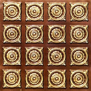 "Fields of Gold - Faux Tin Ceiling Tile - Glue up - 24""x24"" - #128"
