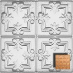 Detailed Fleur de Lis – Aluminum Ceiling Tile – 1202DD - Polish. Copper