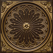 "Rose Window - Faux Tin Ceiling Tile - 24""x24"" - #238"