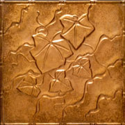 "Creeping Ivy - Copper Ceiling Tile - 24""x24"" - #2491"