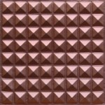 "Miniature Pyramids - Faux Tin Ceiling Tile - Glue up - 24""x24"" - #105"