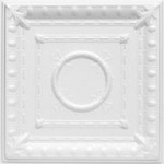 "Romanesque Wreath - Styrofoam Ceiling Tile - 20"" x 20"" - #R 47"