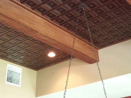 dogwood faux tin ceiling tile glue up - Glue Up Ceiling Tiles