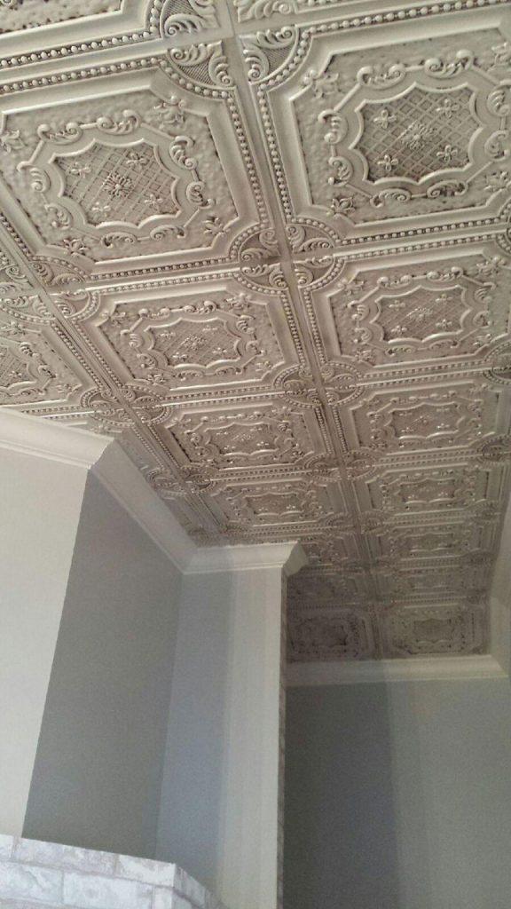 Elizabethan Shield Faux Tin Ceiling Tile 24 X24