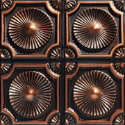 """Whirligigs - Faux Tin Ceiling Tile - Glue up - 24""""x24"""" - #106"""
