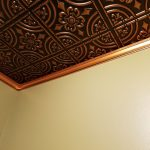 Wrought Iron – Faux Tin Ceiling Tile – Glue up – 24″x24″ – #205 - Antique Copper
