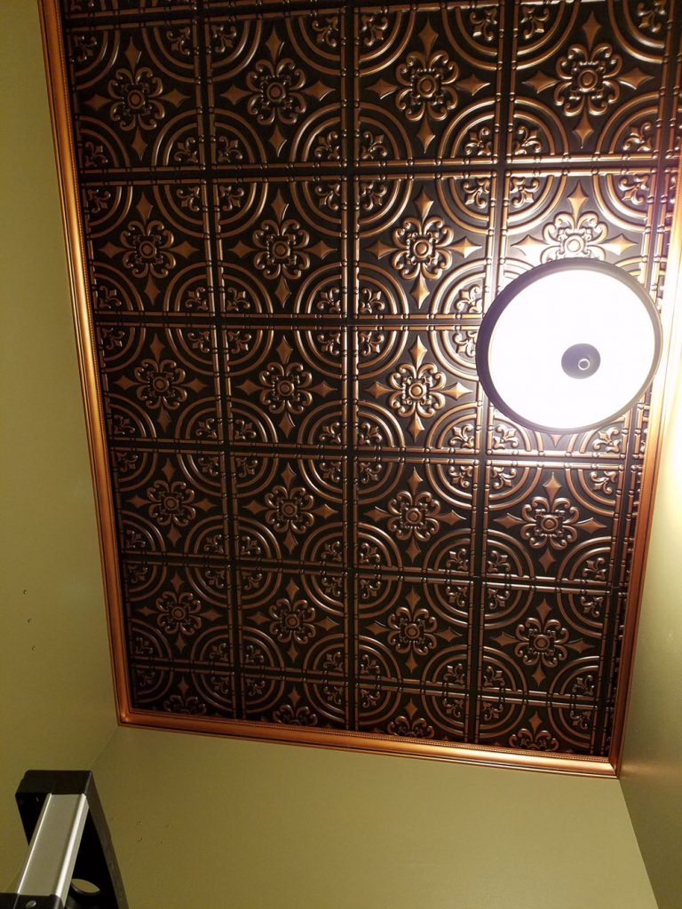 Wrought Iron Faux Tin Ceiling Tile Glue Up 24 X24