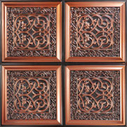 "Lover's_Knot-Faux_Tin_Ceiling_Tile_Glue_up-24""x24""_#231"