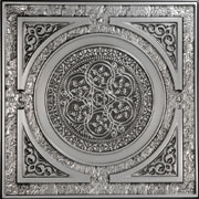 "Steampunk - Faux Tin Ceiling Tile - 24""x24"" - #225"