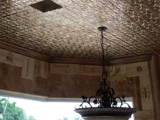 Raised panel ceiling tiles