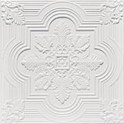 Large Snowflake – Faux Tin Ceiling Tile – 24″x24″ – #206