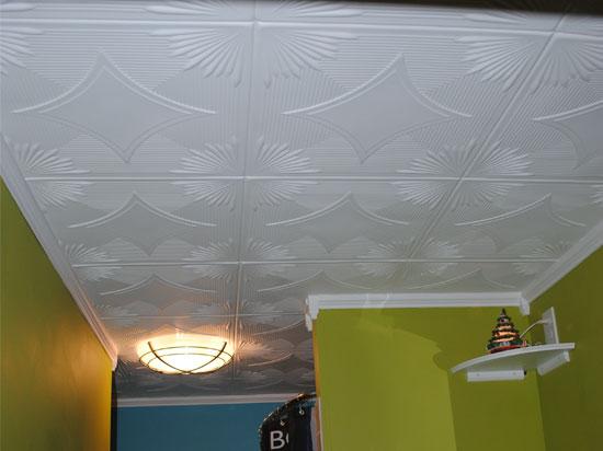 Styrofoam tile ceiling