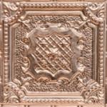 """Elizabethan Shield - Copper Ceiling Tile - 24""""x24' - #2421"""