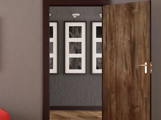 Medium Walnut – Door Skin – Mirroflex