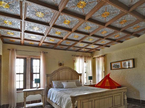 Spanish Silver Styrofoam Ceiling Tile 20 in x 20 in - #R139 - Silver