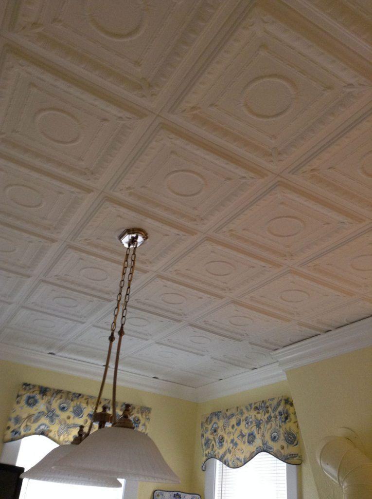 Romanesque Wreath Styrofoam Ceiling Tile 20 X 20 R 47 Dct