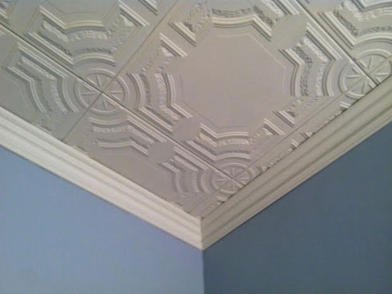 Diy foam crown molding 3 5 cc 352 dct gallery for Decorative ceilings
