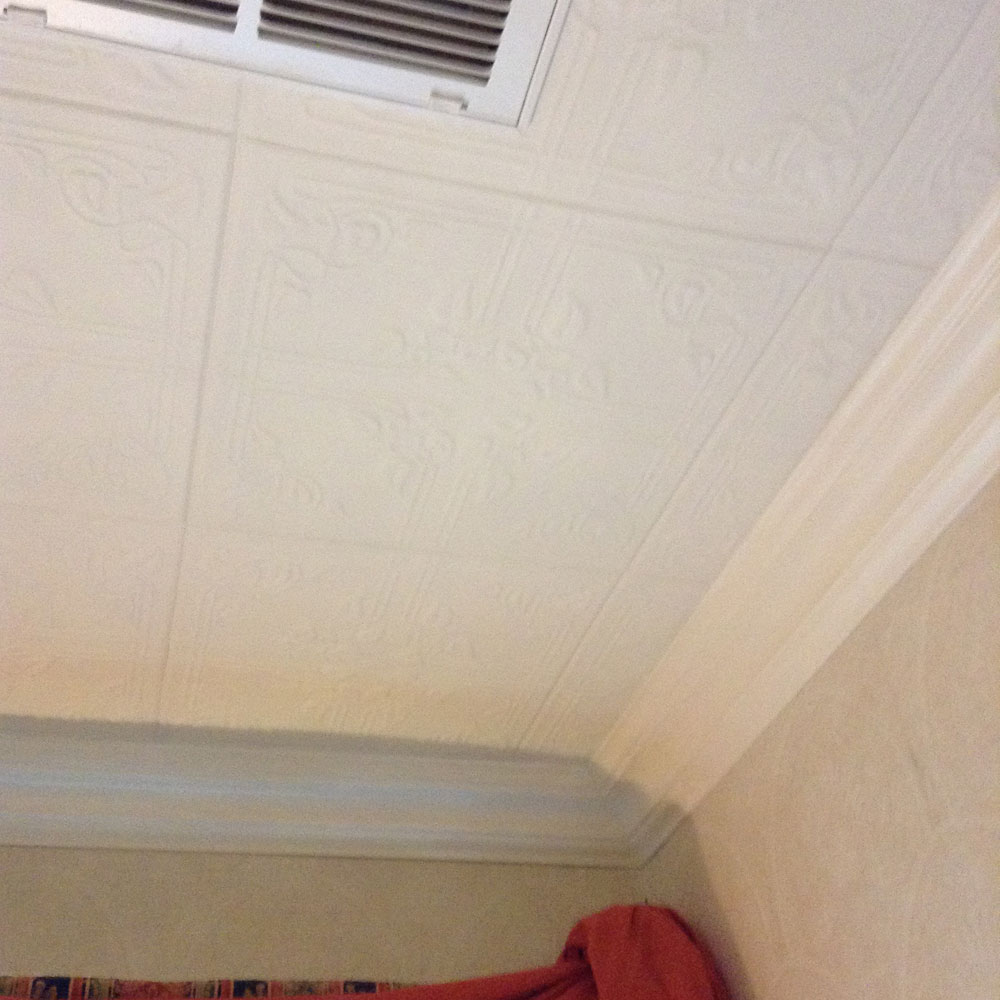 Ivy leaves styrofoam ceiling tile 20x20 r37 dct gallery reading nook ivy leaves styrofoam r37 and crown molding 110 dct painted white before and after photos oil dailygadgetfo Gallery