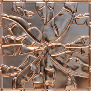 "Rainforest Canopy - Copper Ceiling Tile - 24""x24"" - #2492"