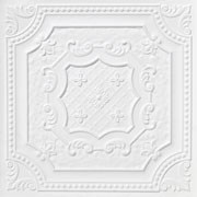 Elizabethan Shield – Faux Tin Ceiling Tile – 24″x24″ – #DCT 04