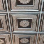Autumn Tendrils – Faux Tin Ceiling Tile – 24″x24″ – #219