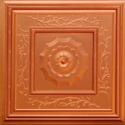"Autumn Tendrils - Faux Tin Ceiling Tile - 24""x24"" - #219"
