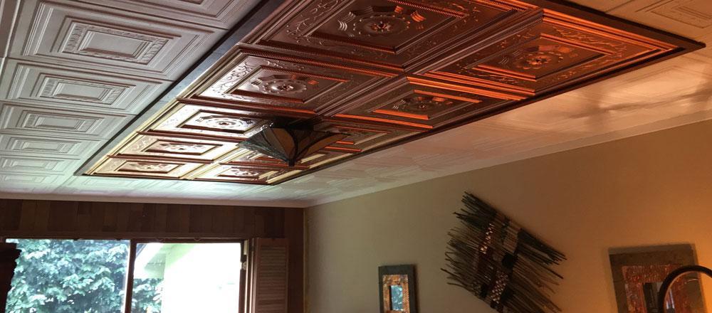 Ceiling tile decorating ideas