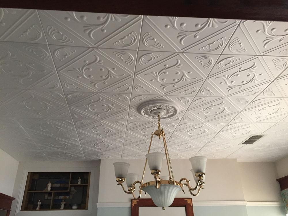diamond wreath styrofoam ceiling tile 20 x20 r02. Black Bedroom Furniture Sets. Home Design Ideas
