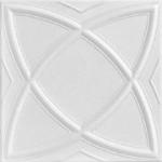 "Elliptical Illusion - Styrofoam Ceiling Tile - 20""x20"" - #R 13"