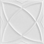 "Elliptical Illusion - Styrofoam Ceiling Tile - 20""x20"" - #R 13"