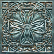 Faux Tin Ceiling Tile - 24 x 24 - #DCT 10 - Patina
