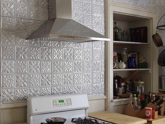 Flower Power – Aluminum Backsplash Tile – #0612