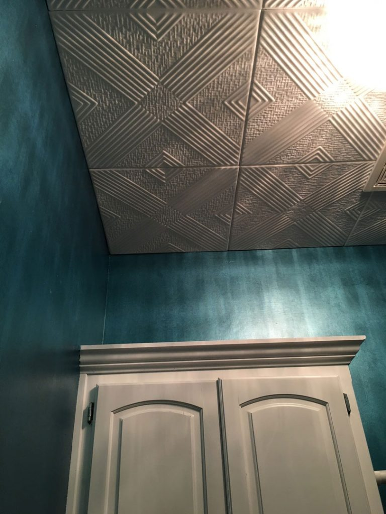 Ceiling tile touch up paint