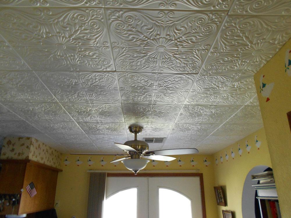 Spanish Silver Styrofoam Ceiling Tile 20 X20 R139