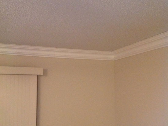 Styrofoam Crown Molding – 6 in wide & 8 ft. Long – Plain – #110 DCT