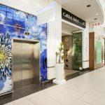 "White Ultra Matte Aluminum - Fusion - Installed at ""Cresta Shopping Centre"", Fusion, Custom Art + White Gloss Aluminum"