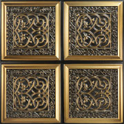 """Lover's Knot - Faux Tin Ceiling Tile - Glue up - 24""""x24"""" - #231"""