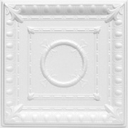 "Romanesque wreath glue-up styrofoam ceiling tile 20"" x 20"" - #R 47"