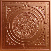 "Steampunk - Faux Tin Ceiling Tile - 24""x24"" - #225"
